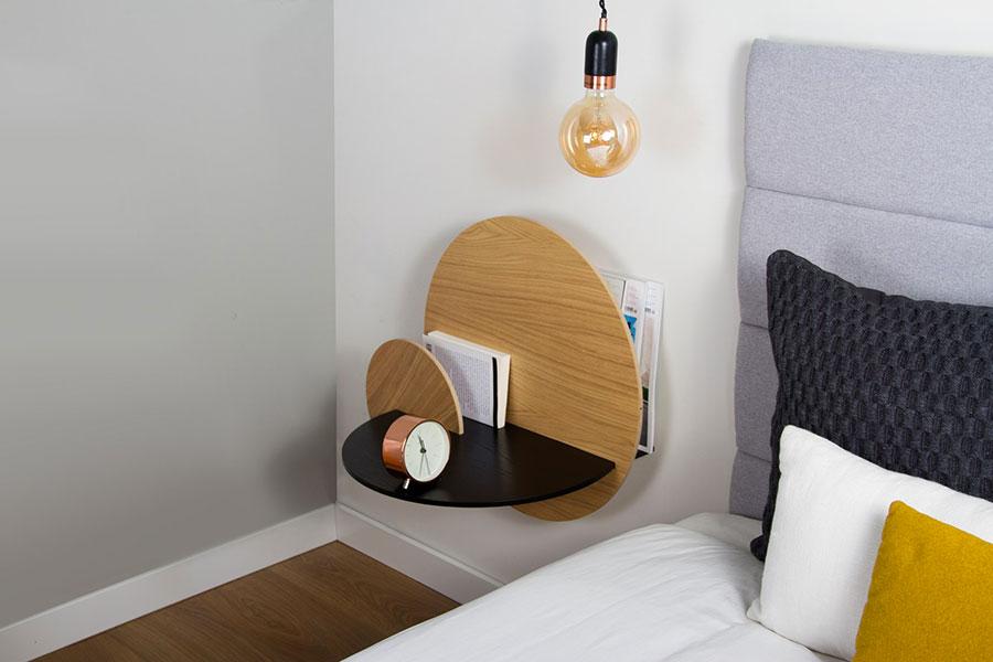 Woodendot suspended bedside table model n.04