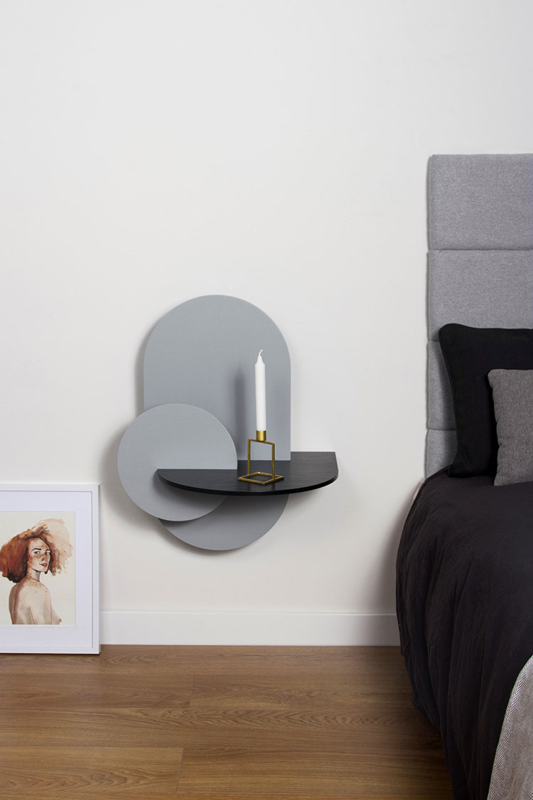 Woodendot suspended bedside table model n.03