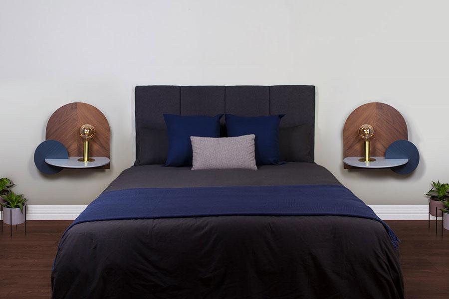Woodendot suspended bedside table n.01