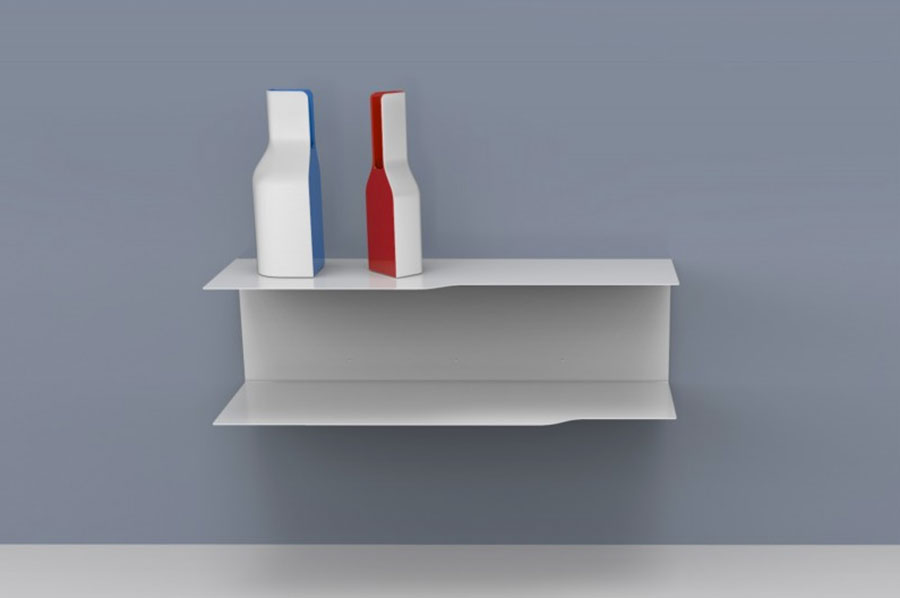 Suspended bedside table model by Vidame Creation n.03