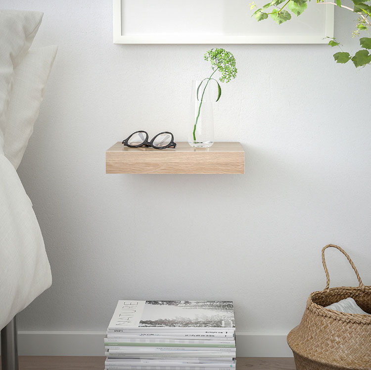 Suspended bedside table model by Ikea n.02