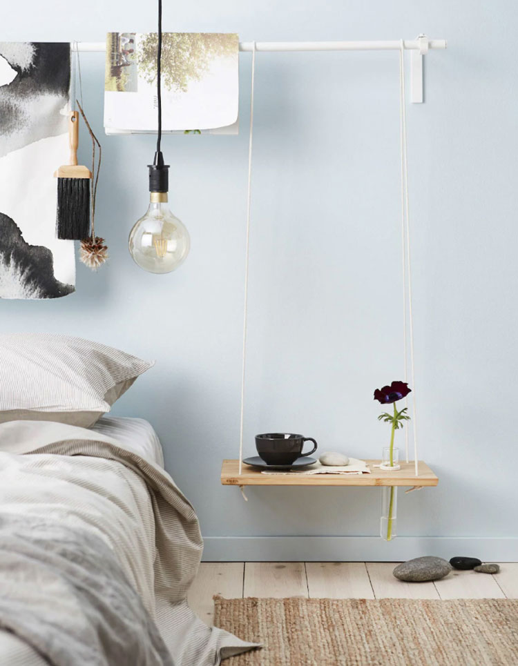 Suspended bedside table model by Ikea n.03