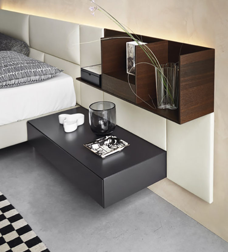 Suspended bedside table model by Sangiacomo n.02