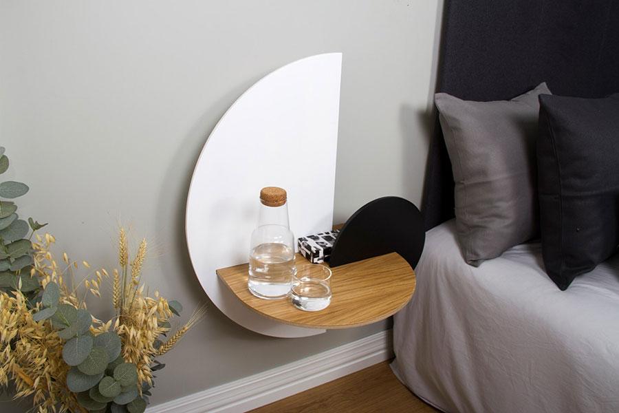 Woodendot suspended bedside table n.02