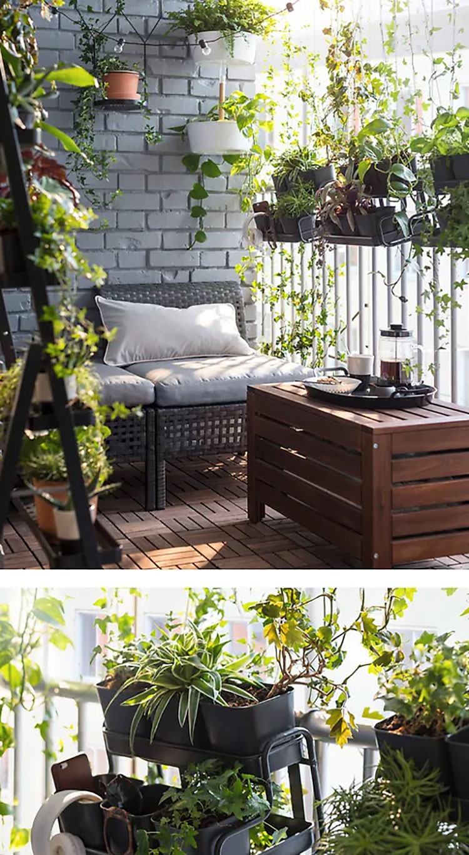 Ideas for decorating an Ikea balcony n.10