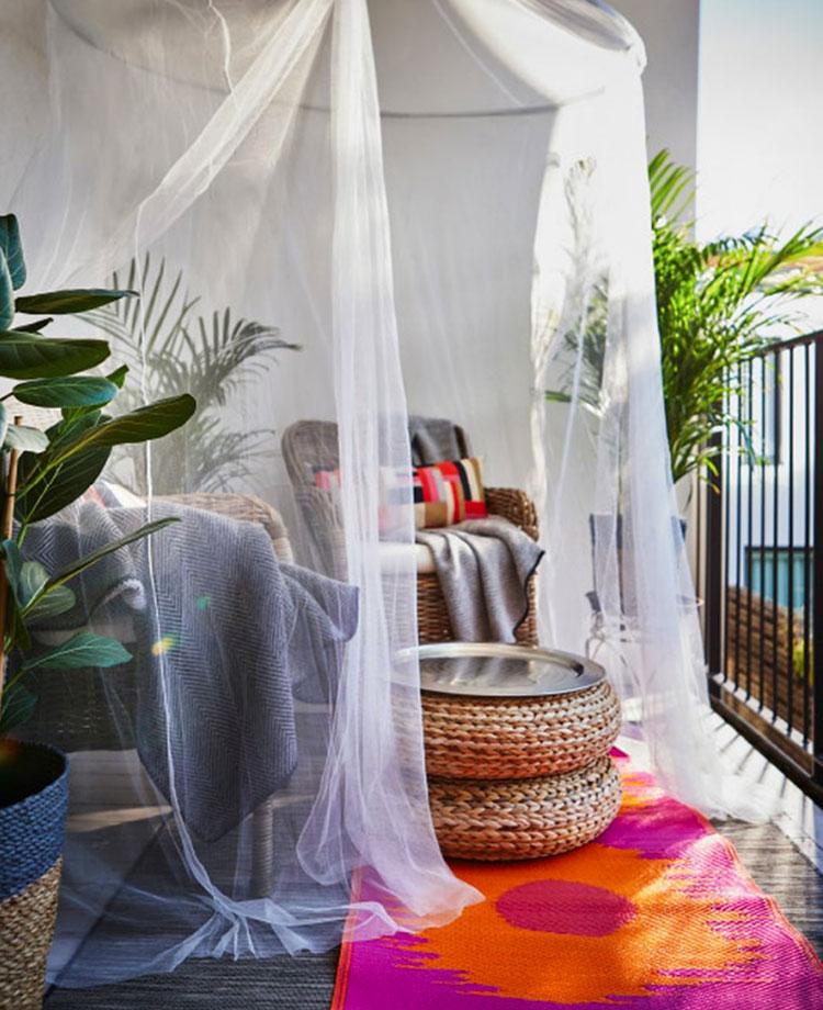 Ideas for decorating an Ikea balcony n.22
