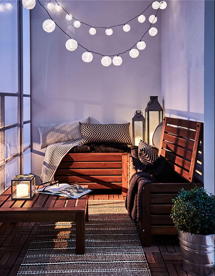 Ideas for decorating an Ikea balcony n.11