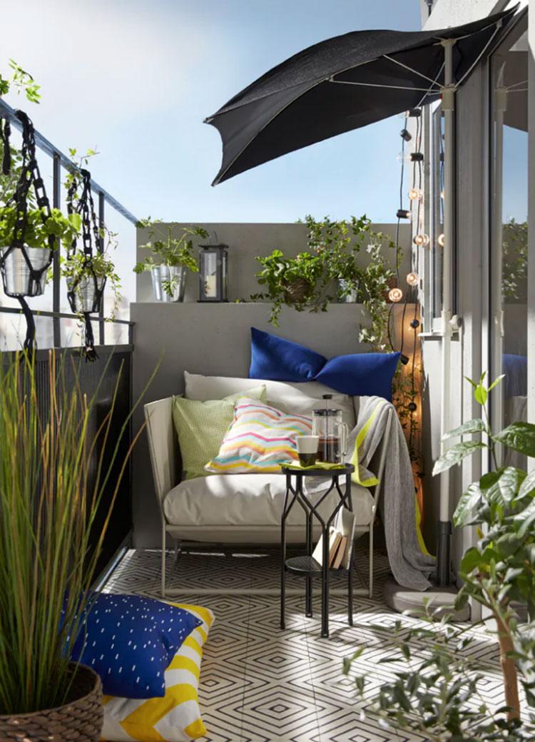 Ideas for decorating an Ikea balcony n.13