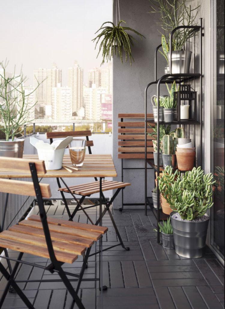 Ideas for decorating an Ikea balcony n.20