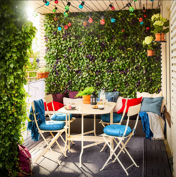 Ideas for decorating an Ikea balcony n.24