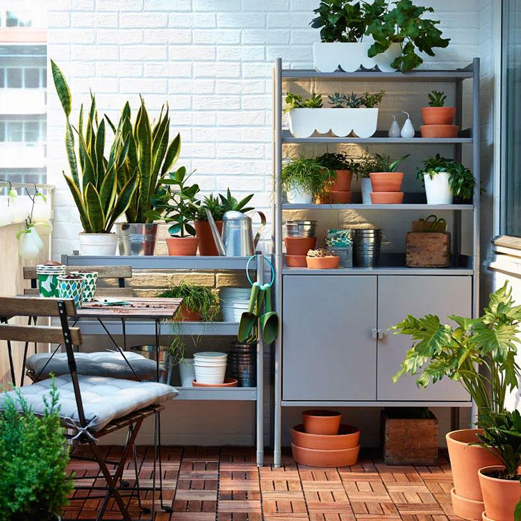 Ideas for decorating an Ikea balcony n.19