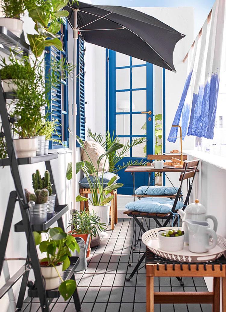 Ideas for decorating an Ikea balcony n.17