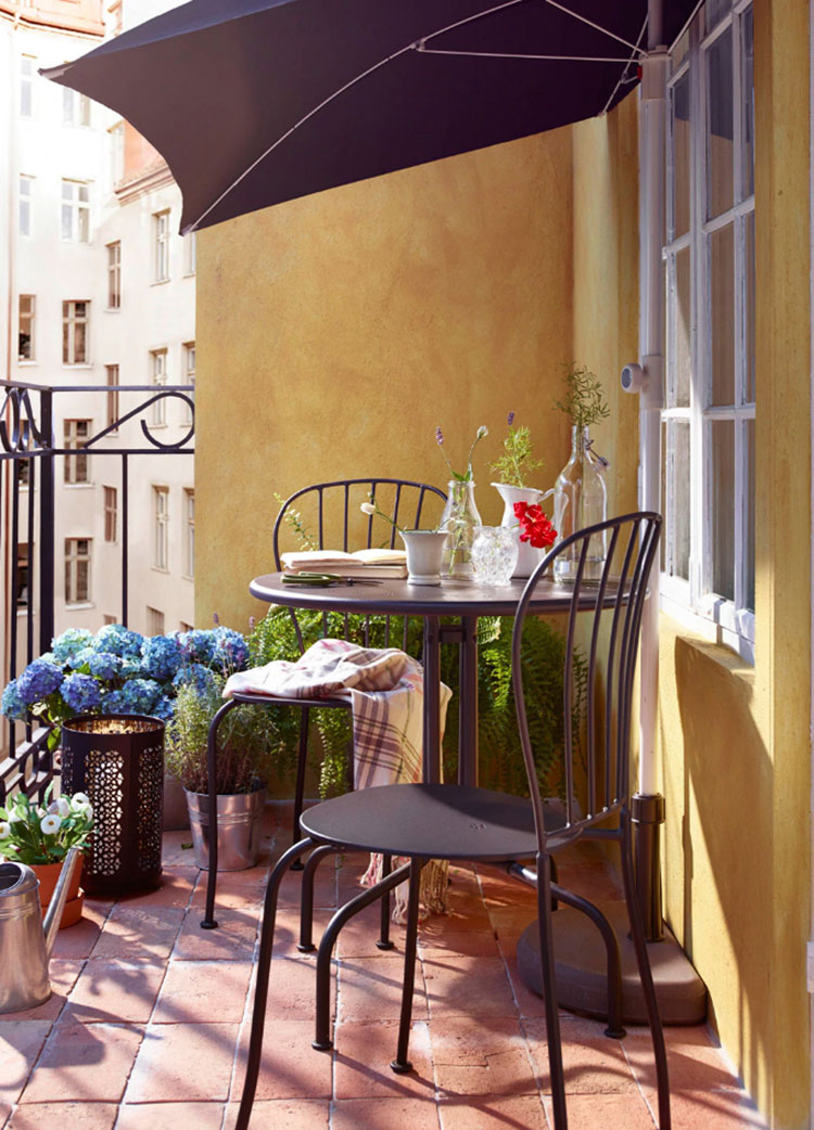 Ideas for decorating an Ikea balcony n.12