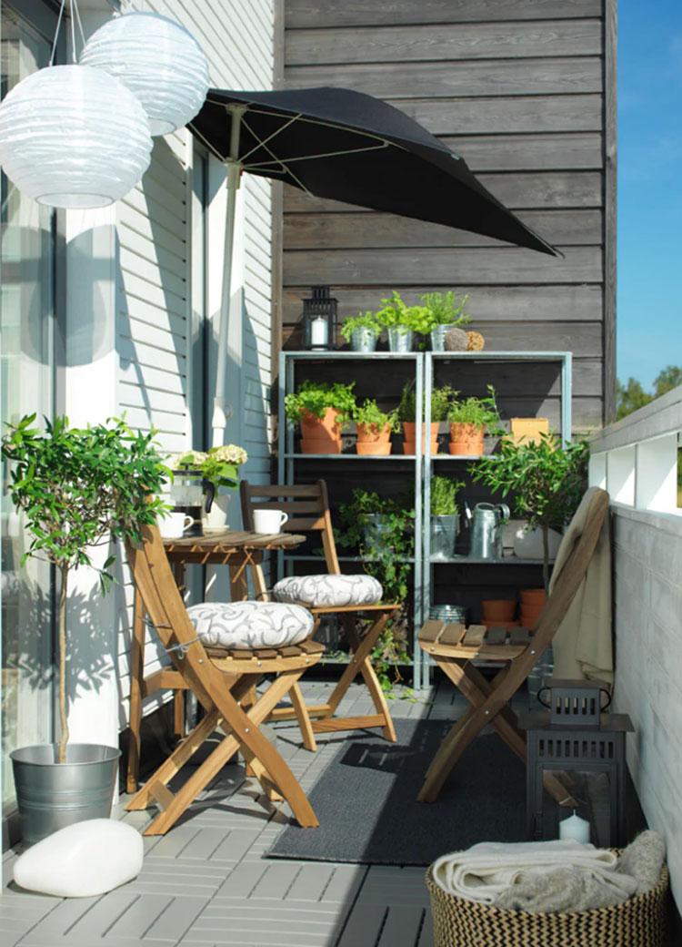 Ideas for decorating an Ikea balcony n.18