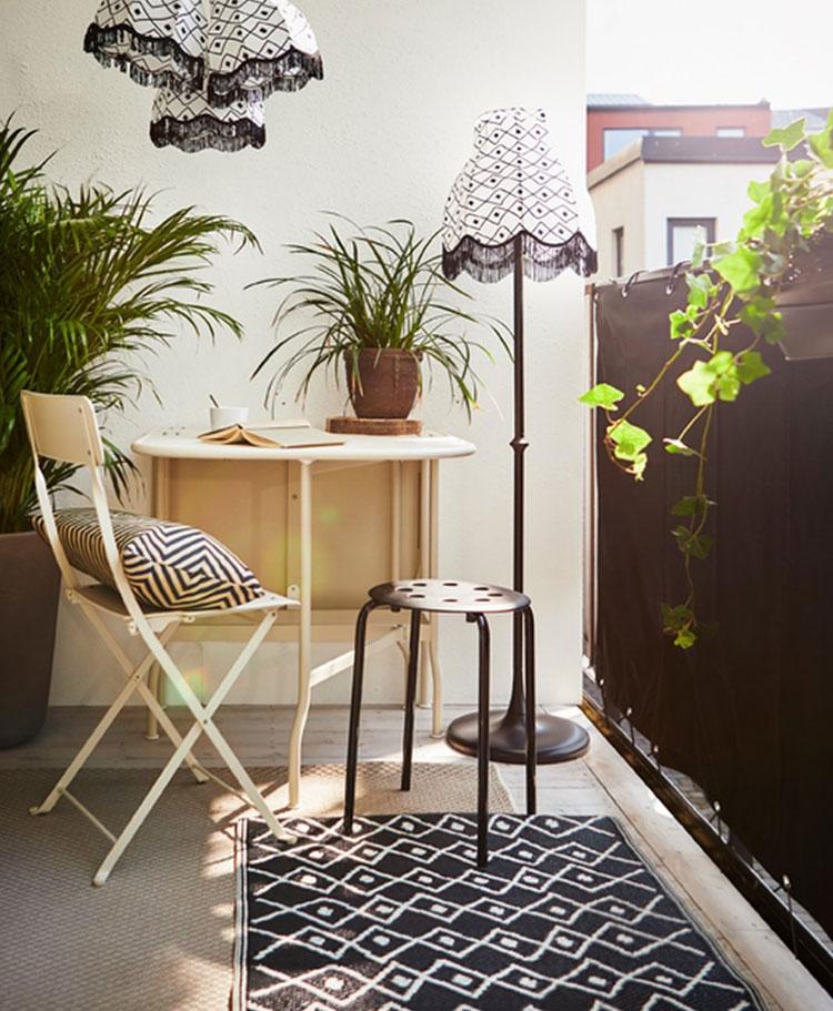 Ideas for decorating an Ikea balcony n.16