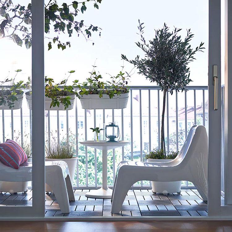 Ideas for decorating an Ikea balcony n.14