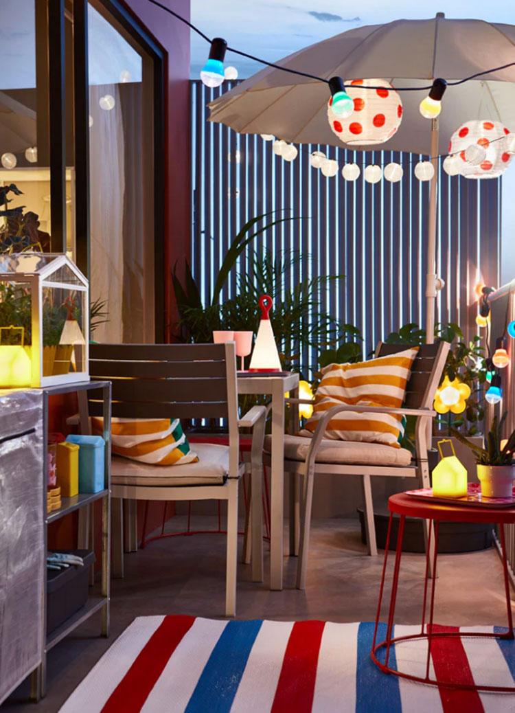 Ideas for decorating an Ikea balcony n.23