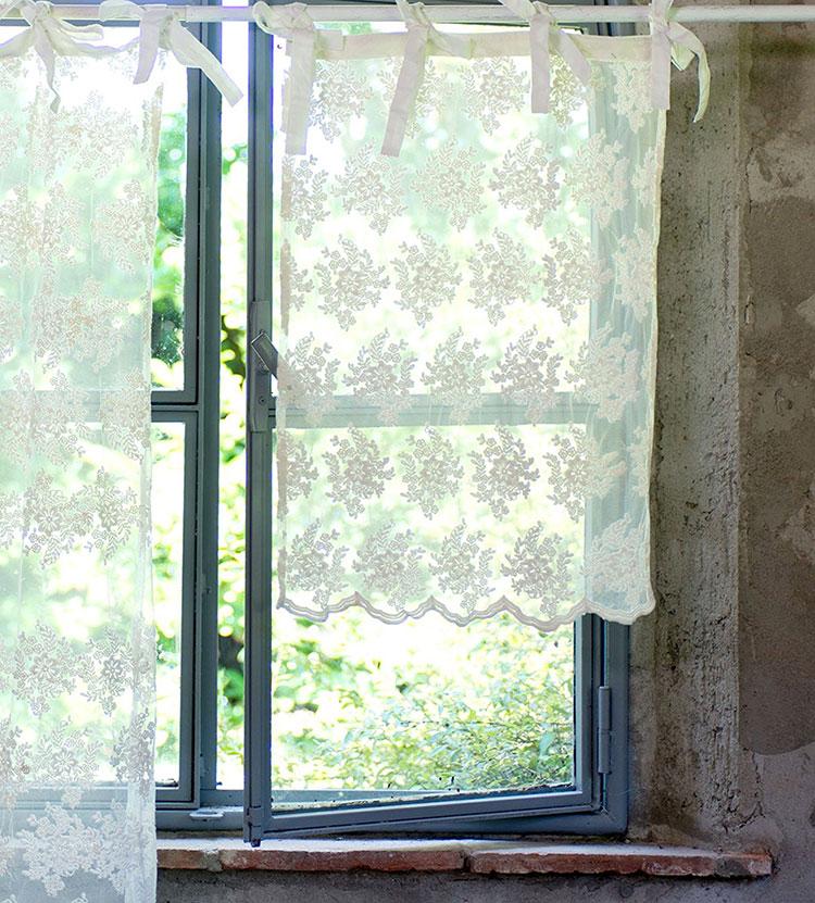 Shabby chic kitchen curtain pattern n.04