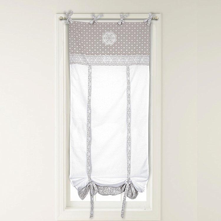 Shabby chic kitchen curtain model n.03