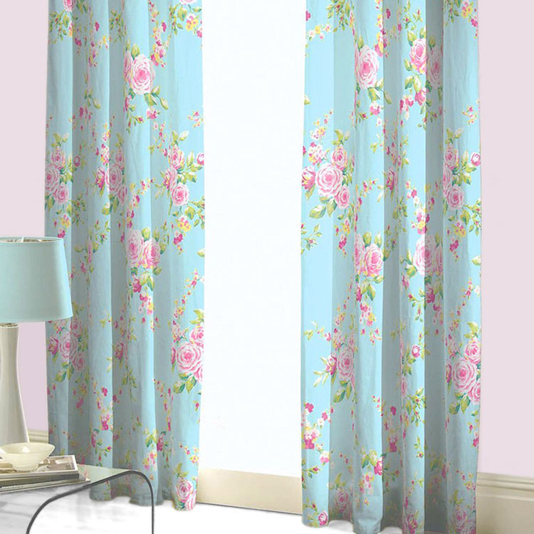 Shabby Chic Bedroom Curtain Pattern # 01