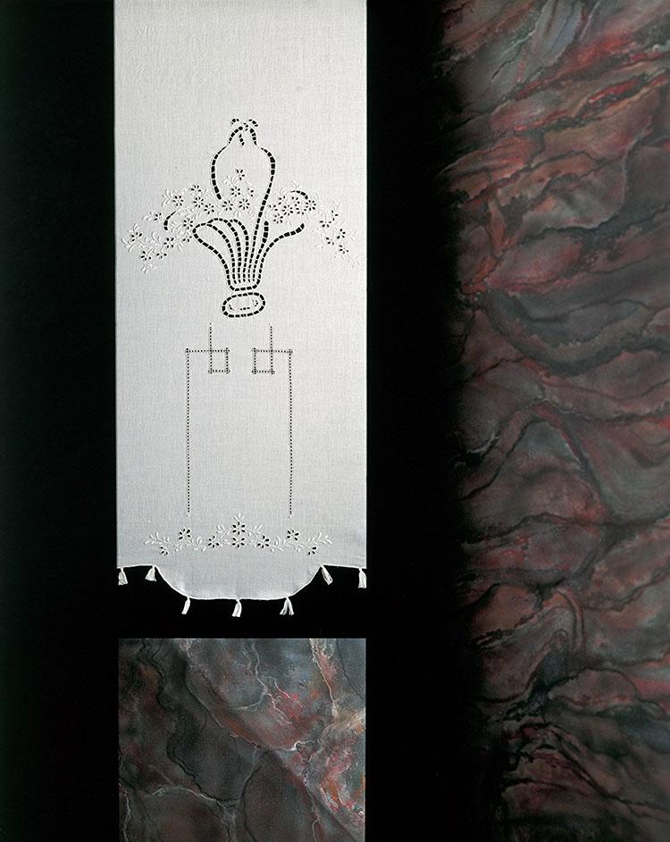 Shabby chic bathroom curtain model n.03