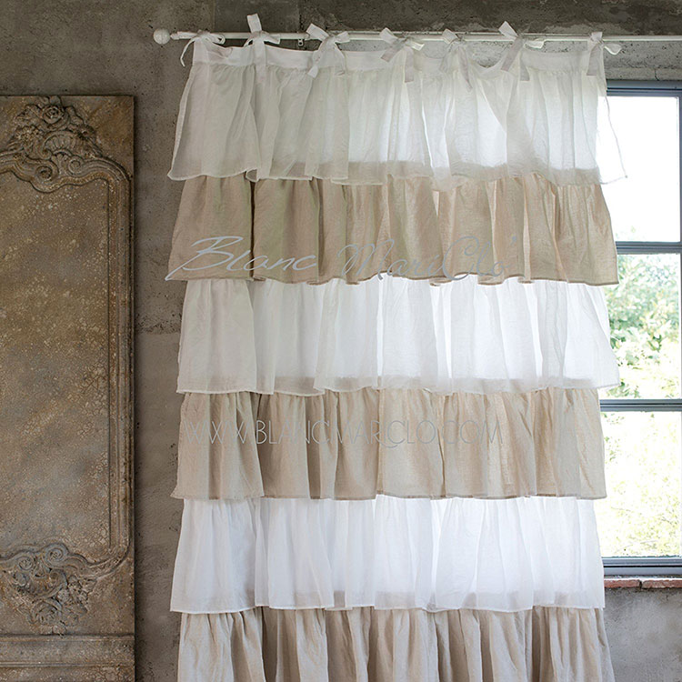 Shabby chic curtain pattern for living room n.10
