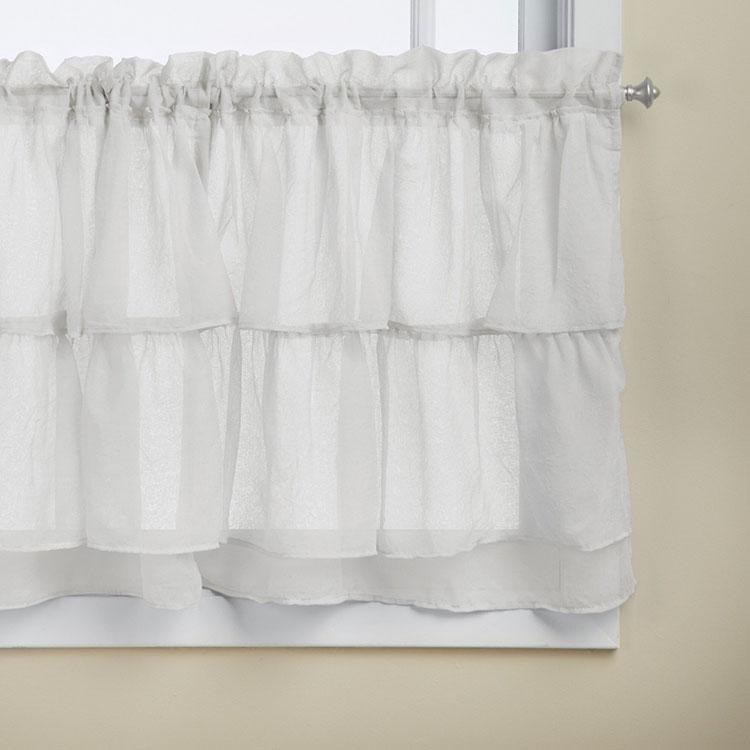 Shabby chic kitchen curtain model n.07