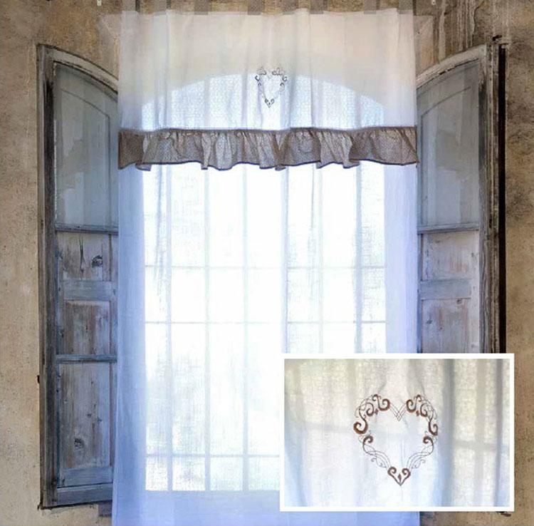 Shabby chic living room curtain model n.02