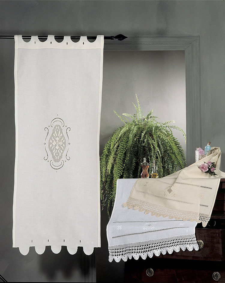 Shabby chic kitchen curtain pattern # 10