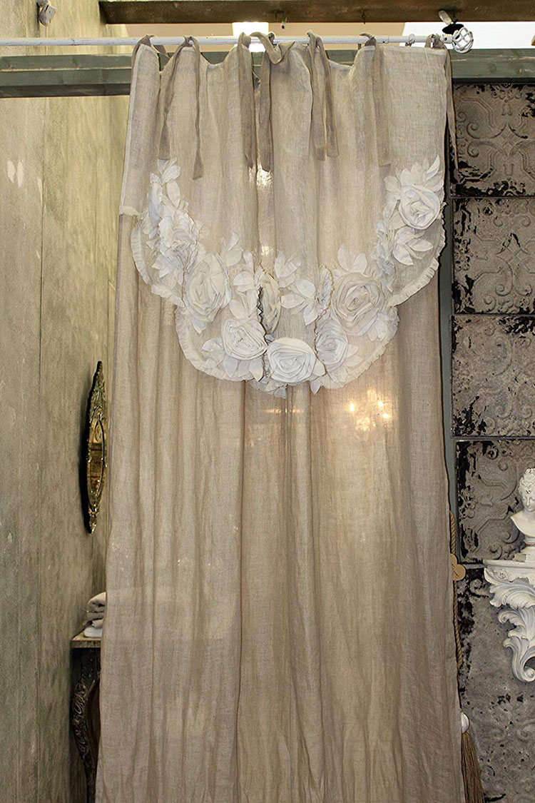 Shabby Chic Bedroom Curtain Pattern # 05