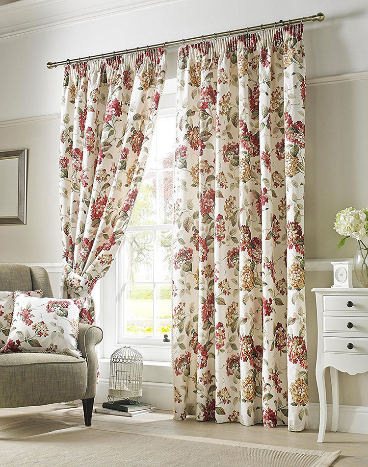 Shabby chic living room curtain model n.06