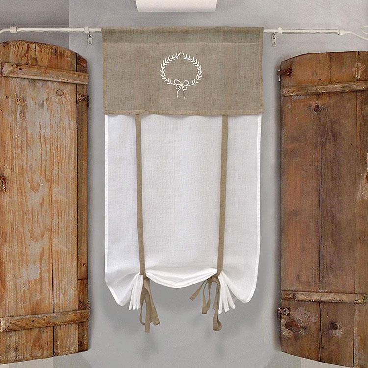 Shabby chic kitchen curtain model n.02