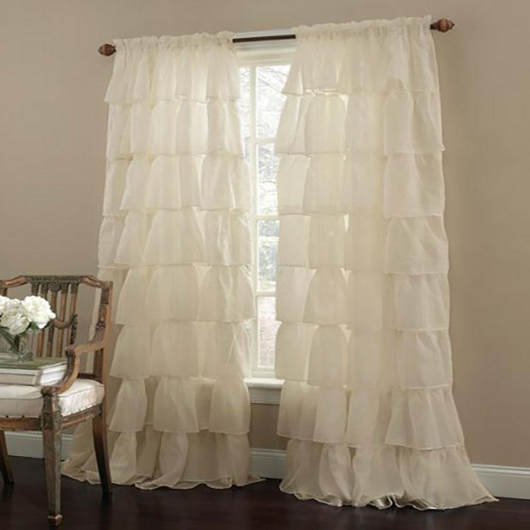 Shabby chic living room curtain model n.01