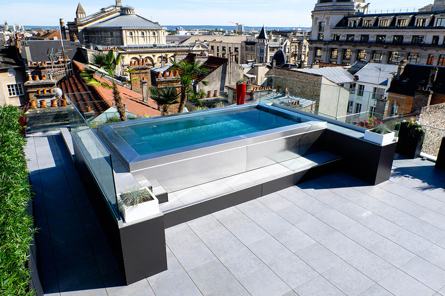 Above ground pool model by Steel and Style