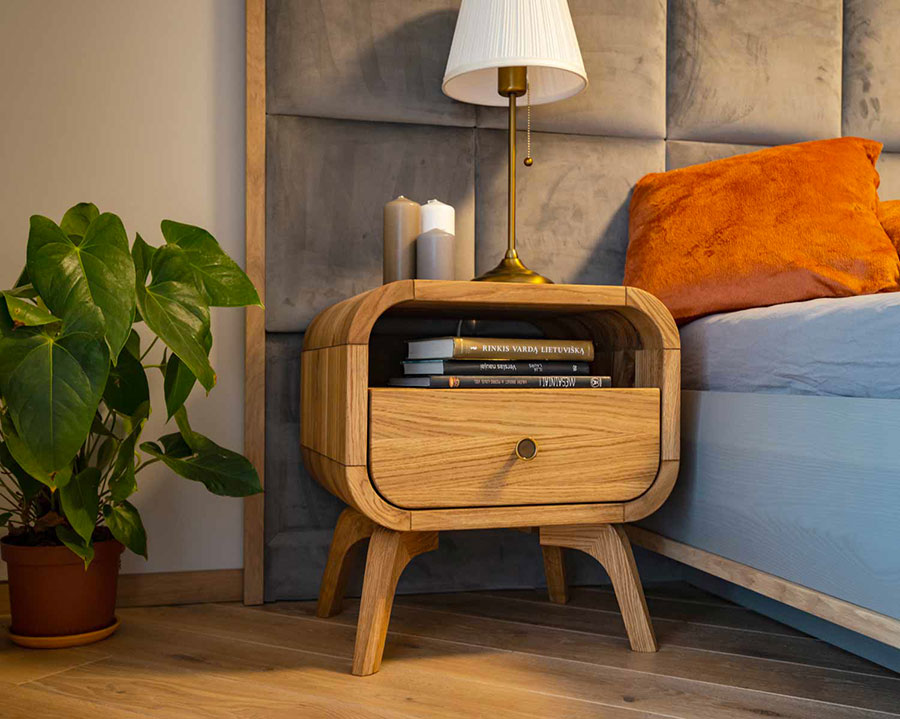 Vintage Nightstand Model from Oak Design Studio # 03