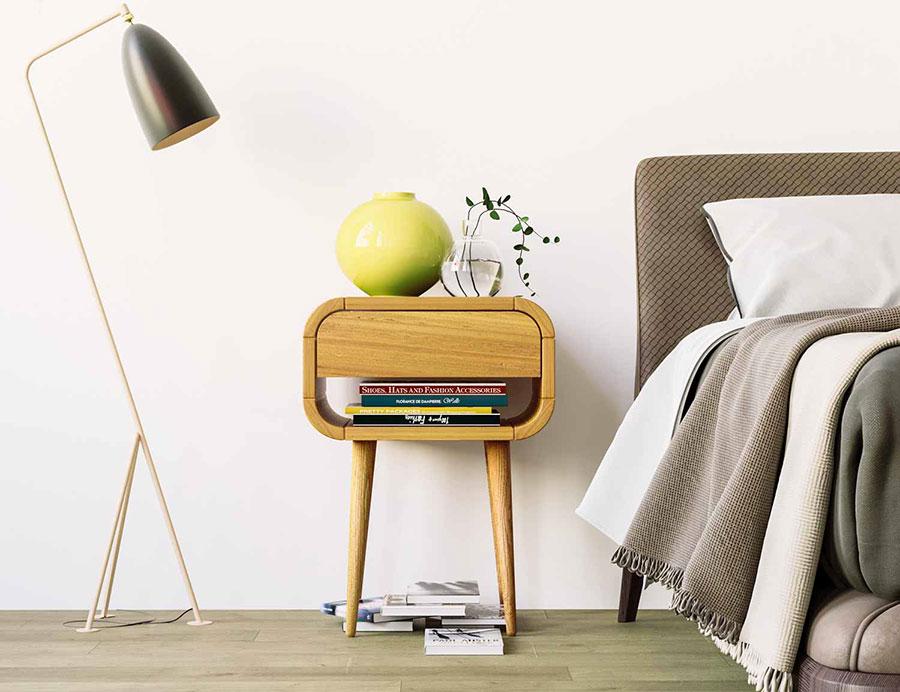 Vintage Bedside Table Model from Oak Design Studio # 01