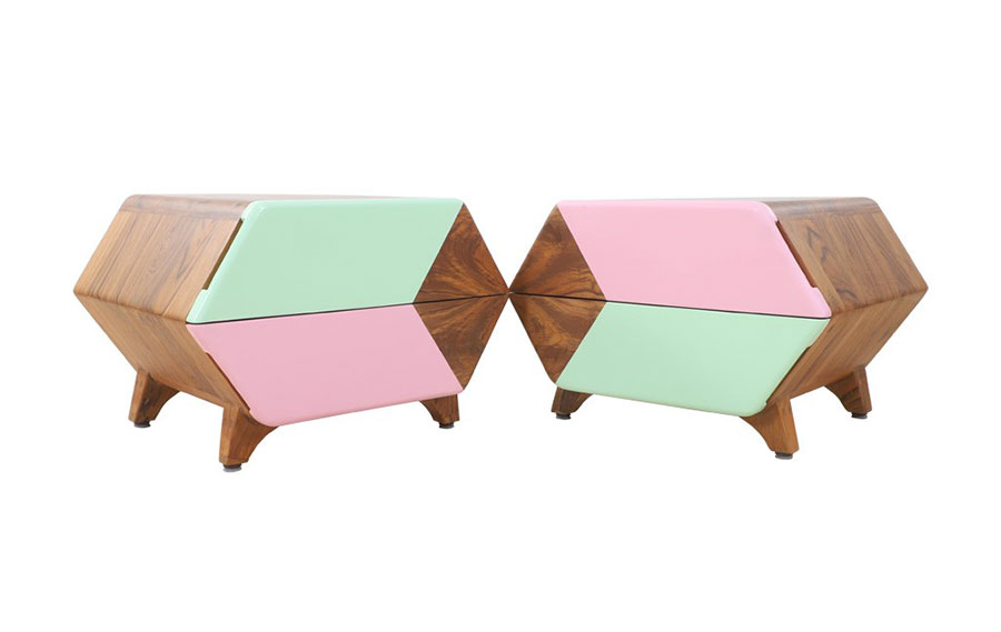Vintage bedside table model by Alankaram n.09