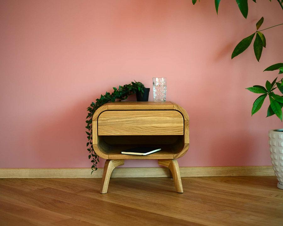 Vintage Bedside Table Model from Oak Design Studio # 04