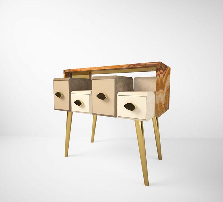 Vintage bedside table model by Muranti n.02