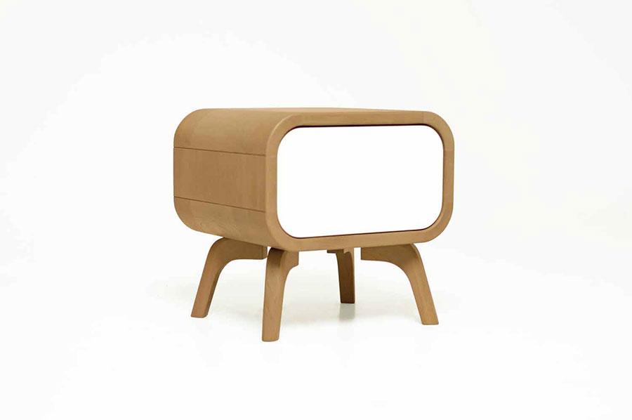 Vintage Bedside Table Model from Oak Design Studio # 06