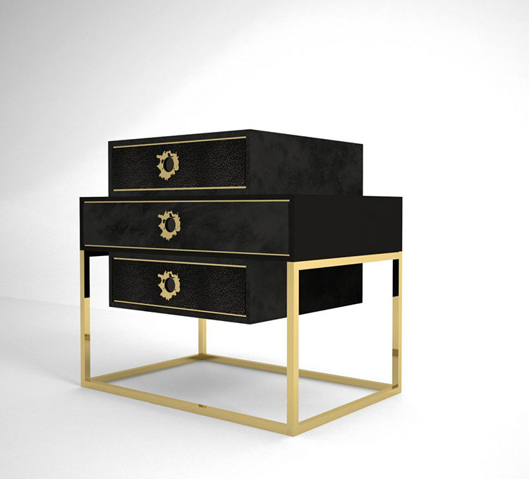 Vintage bedside table model by Muranti n.05
