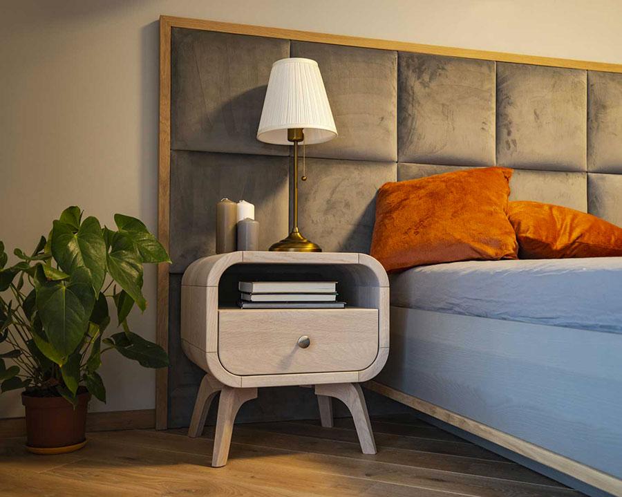 Vintage Bedside Table Model from Oak Design Studio # 08