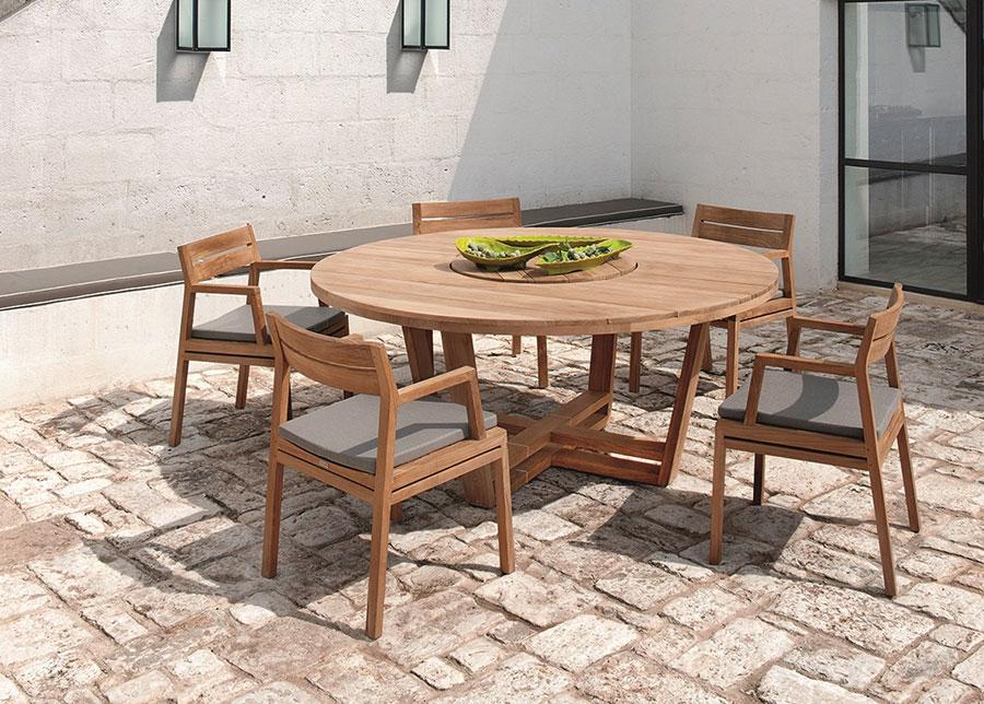 Teak wood garden table model n.04