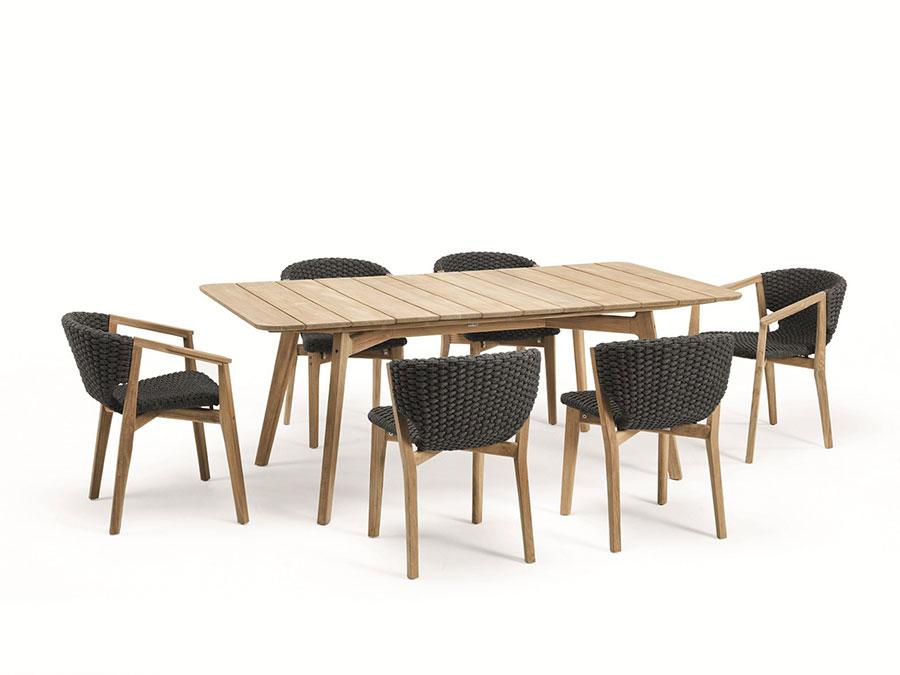 Teak wood garden table model n.05