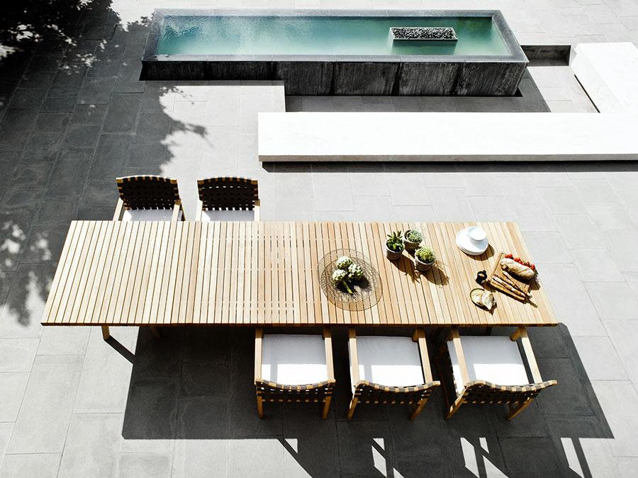 Teak wood garden table model n.10