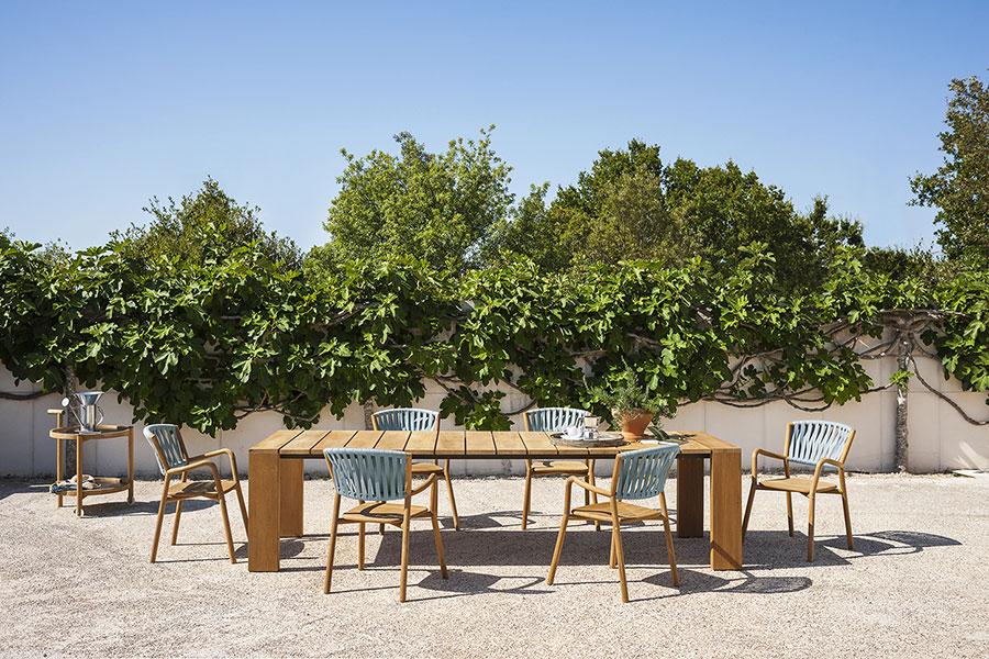 Teak wood garden table model n.06