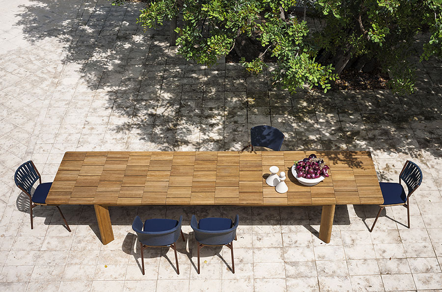 Teak wood garden table model n.07