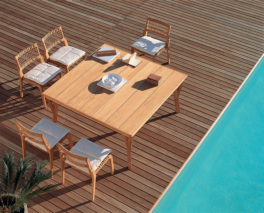 Teak wood garden table model n.08