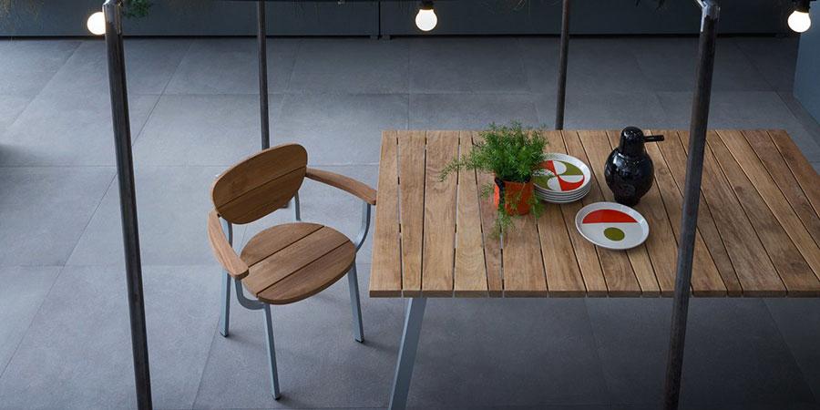 Teak wood garden table model n.02