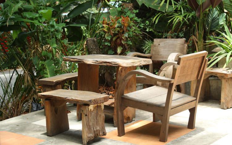 Photo of # 19 wooden garden table